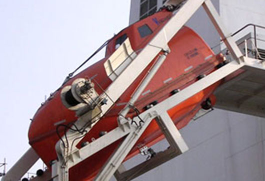Lifeboat Davit & Winch System, Authorized lifeboat Service, Authorized Liferaft Service