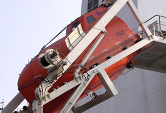 Lifeboat Davit & Winch System, Authorized lifeboat Service, Authorized Liferaft Service