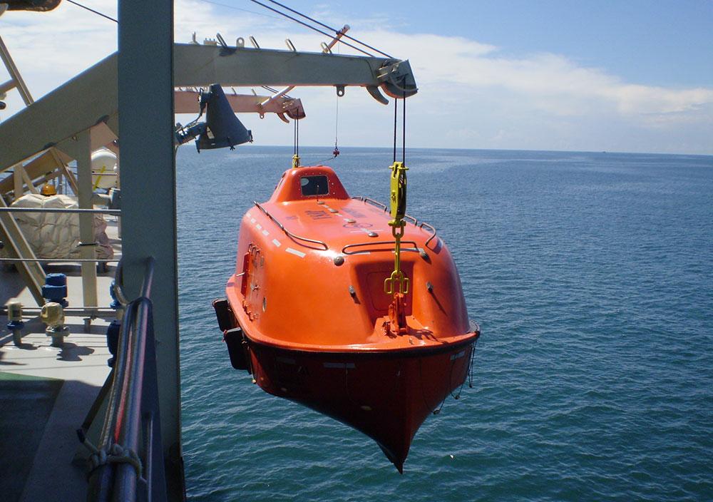 Lifeboats Supply, Davits Supply, Lifeboat Service, FRP Repair